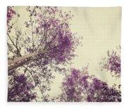 Pink Trees Fleece Blanket