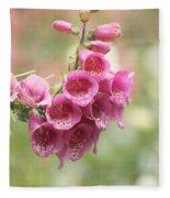 Pink Trumpet Fleece Blanket