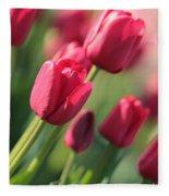 Pink Tulip Dream Fleece Blanket