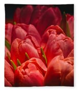 Fucshia Tulips Fleece Blanket