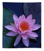 Pink Waterlily Fleece Blanket