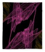 Pink Web Fleece Blanket