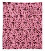 Pink Wool Fleece Blanket