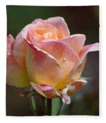 Pink Yellow Rose 01 Fleece Blanket