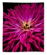 Pink Zinnia Digital Wave Fleece Blanket