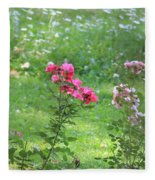 Pinks And Daisies Fleece Blanket