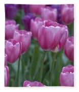 Pinks And Purples Fleece Blanket