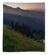 Pinnacle Saddle View Out Back Fleece Blanket