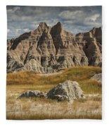 Pinnacles And Spires In The Badlands Fleece Blanket