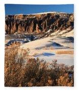 Pinnacles Sunset Fleece Blanket