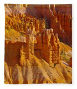 Pinnicles At Sunset Point Bryce Canyon National Park Fleece Blanket