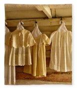 Pioneer Days-child's Dresses Fleece Blanket