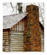 Pioneer Log Cabin Chimney Fleece Blanket