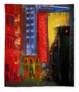 Pioneer Square Alleyway Fleece Blanket