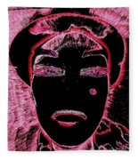 Pippas Pink Beauty Mark Fleece Blanket