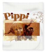 Pippi Longstocking - Fan Version Fleece Blanket