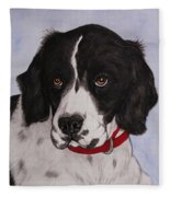 Pippy The Springer Spaniel Fleece Blanket