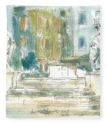 Piran - Square 1st May Fleece Blanket
