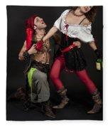 Pirate Couple 1 Fleece Blanket