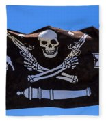 Pirate Flag With Skull And Pistols Fleece Blanket