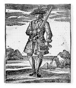 Pirate John Rackam, 1725 Fleece Blanket