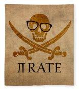 Pirate Math Nerd Humor Poster Art Fleece Blanket