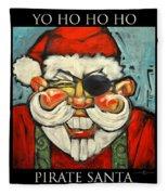 Pirate Santa Poster Fleece Blanket
