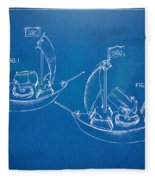 Pirate Ship Patent - Blueprint Fleece Blanket