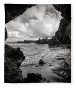 Pirate Treasure Cave Pa'iloa Beach Fleece Blanket