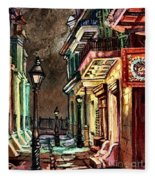 Pirate's Alley Evening Fleece Blanket