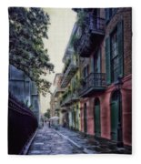 Pirate's Alley In New Orleans Fleece Blanket
