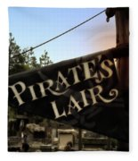 Pirates Lair Signage Frontierland Disneyland Fleece Blanket