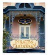 Pirates Signage New Orleans Disneyland Fleece Blanket