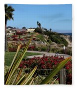 Pismo Beach Landscape Fleece Blanket