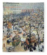 Pissarro's Boulevard Des Italiens In Morning Sunlight Fleece Blanket