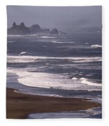 Pistol River Beach Fleece Blanket