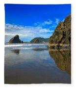 Pistol River Sea Stacks Fleece Blanket
