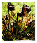 Pitcher Plant Abstraction Fleece Blanket