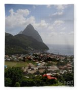 Pitons St. Lucia Fleece Blanket
