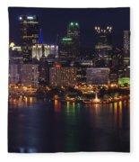 Pittsburgh After The Setting Sun Fleece Blanket