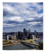 Pittsburgh After The Storm Fleece Blanket