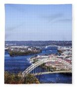 Pittsburgh North Fleece Blanket