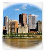 Pittsburgh Pa In The Spotlight Fleece Blanket