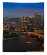 Pittsburgh Pa Fleece Blanket
