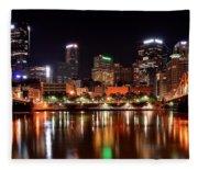 Pittsburgh Panorama Fleece Blanket