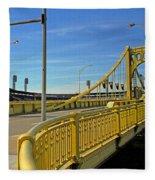 Pittsburgh - Roberto Clemente Bridge Fleece Blanket