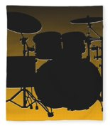 Pittsburgh Steelers Drum Set Fleece Blanket