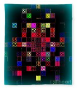 Pixel Quilt Fleece Blanket