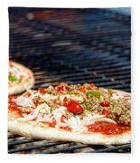 Pizza On The Grill Fleece Blanket