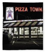 Pizza Town Fleece Blanket